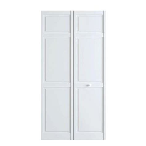 Bi Fold 6 Panel Closet Doors Bay 24 In X 80 In White 6 Panel Solid Wood Interior Closet Bi Fold Door
