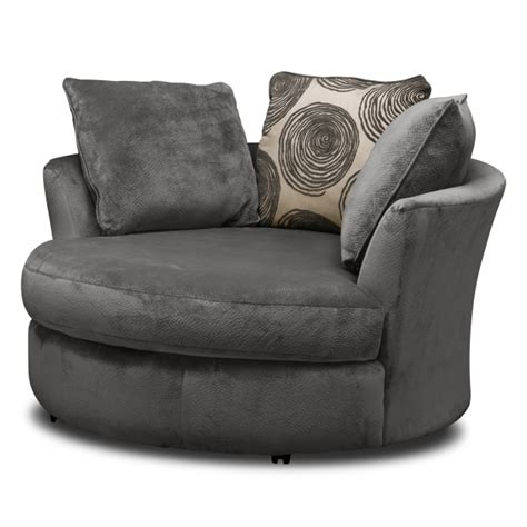 Swivel Round Cuddle Chair Fabric Chenille Leather Round Swivel Cuddle Chair