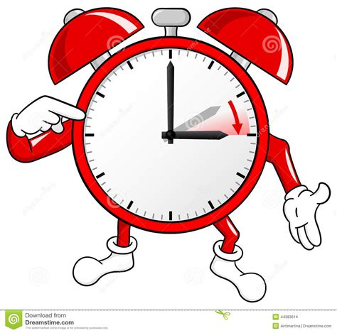 clip on daylight l alarm clock change to daylight saving stock vector
