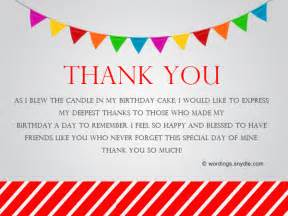 how to say thank you for birthday wishes wordings and