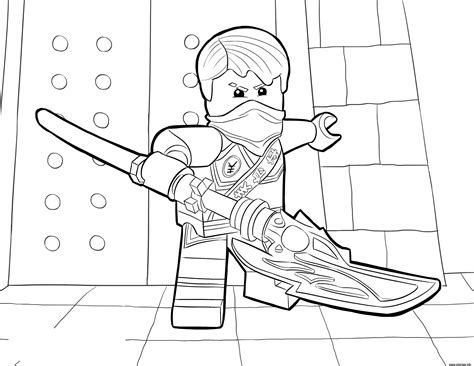 ninjago ghost coloring page coloriage lego ninjago jay tournament of elements dessin