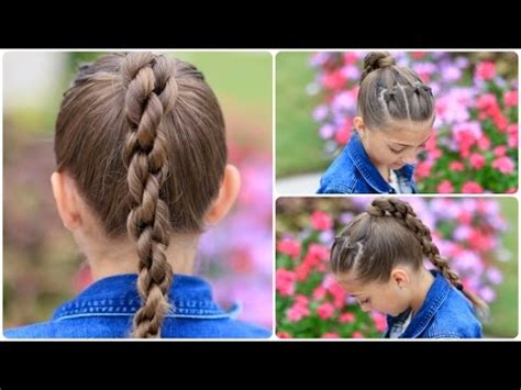 cute girls hairstyles for your crush how to create a chain link braid sport hairstyles youtube
