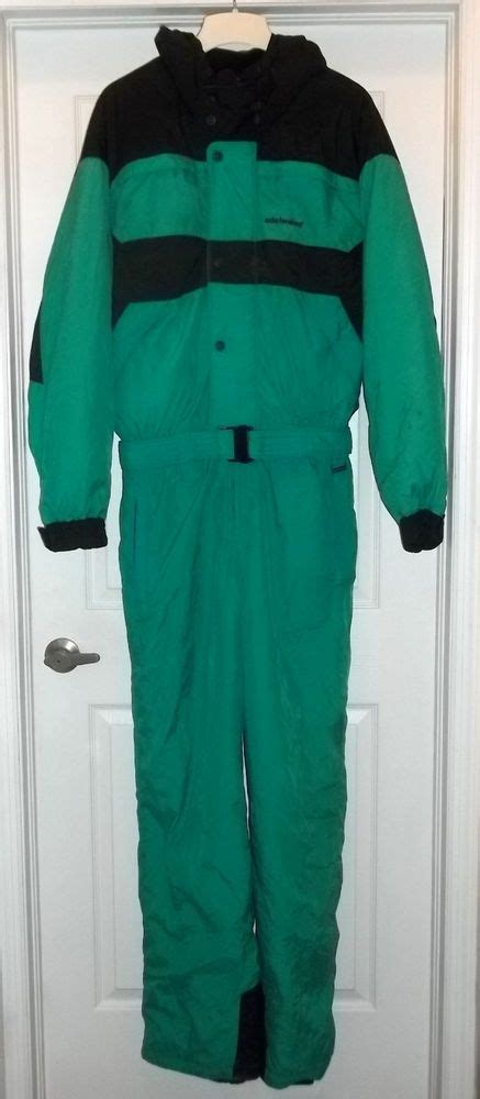 Vintage 1 Jumbo Maxi By Zhafash vintage edelweiss one s xl ski suit green back snowsuit large