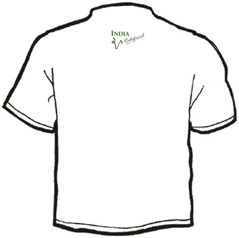 design a shirt front and back back t shirt design clipart best