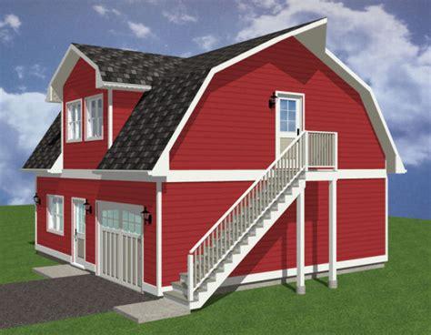 red barn plans barn style garage house plan hunters