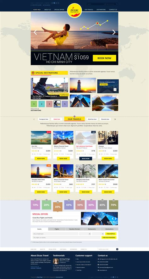 html5 travel templates ziczac travel html5 responsive booking template by