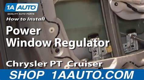 install replace broken power window regulator