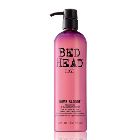 bed head dumb blonde tigi bed head dumb blonde reconstructor for chemically treated hair 750ml feelunique