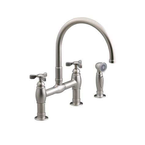 bridge kitchen faucet with side spray kohler bridge kitchen faucet side sprayer