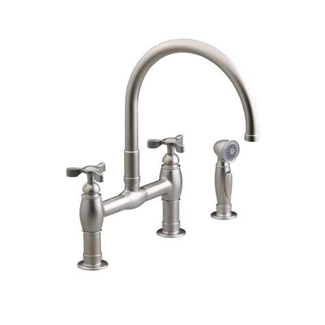 bridge kitchen faucet with side spray kohler bridge kitchen faucet side sprayer