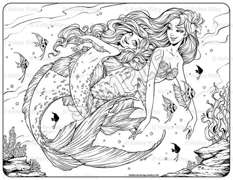 coloring pages for adults underwater underwater playtime adult coloring page