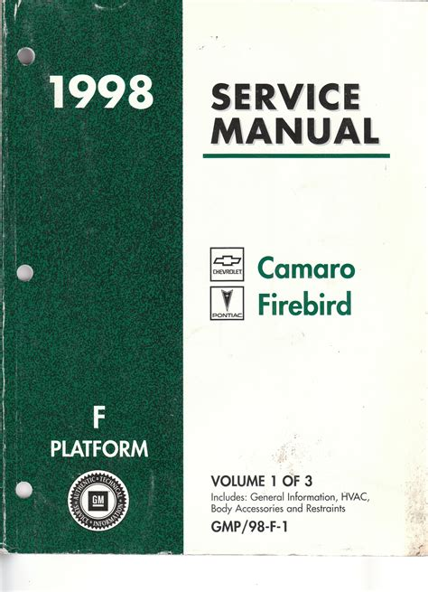 car owners manuals free downloads 1998 chevrolet tracker parking system 1998 chevrolet camaro workshop manual download free
