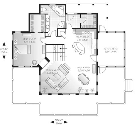 Collection of Yukon Harbor Vacation Home Plan 011s 0066 House Plans ...