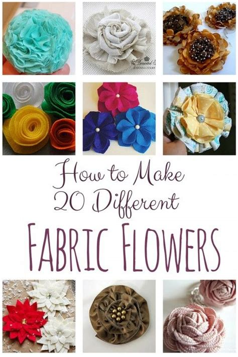 How To Make Handmade Fabric Flowers - 211 best diy flowers images on paper flowers