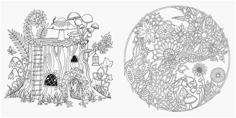secret garden coloring book store enchanted forest coloring pages