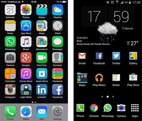 theme app for iphone 6 plus comment transformer son smartphone android en iphone