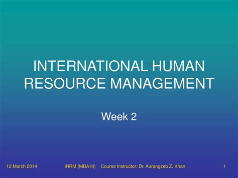 Strategic Hrm Ppt For Mba by Ppt International Human Resource Management Powerpoint