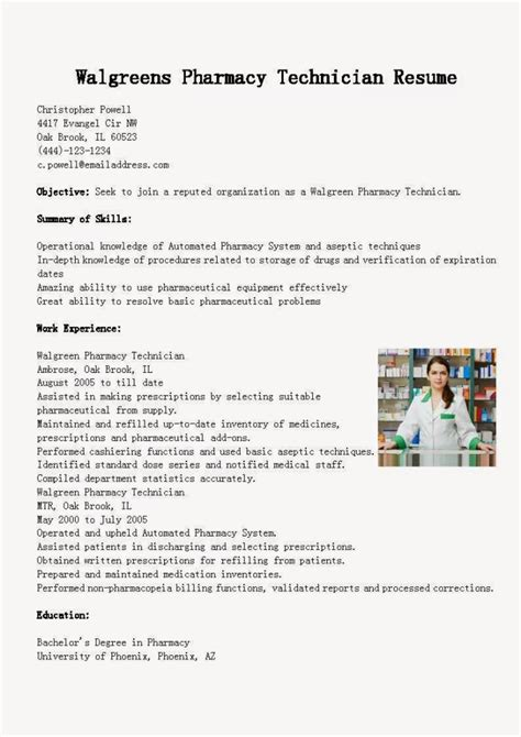 Pharmacy Technician Resume Exle by 18930 Resume Exles For Pharmacy Technician Pharmacy