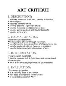 Painting Description Essay by Best Photos Of Self Critique Paper Exle Self Evaluation Essay Exles Critical Essay