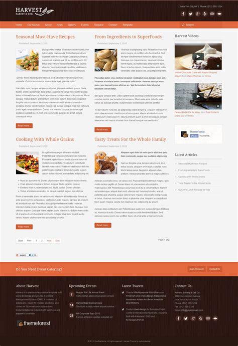 theme joomla restaurant harvest restaurant food joomla theme by webunderdog