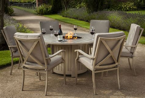 Covers For Patio Furniture Cushions Portland Round 6 Seater Dining Set With Fire Pit 163 1 650