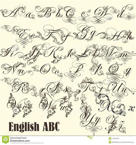 imagenes de letras vintage letras de abc del ingl 233 s en estilo del vintage ilustraci 243 n