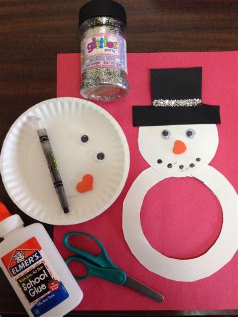 Snowman Paper Plate Craft - paper plate snowman craft kid craftys