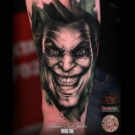 joker tattoo portrait joker tattoo on arm best tattoo ideas gallery
