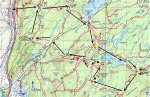 Harriman State Park Map by Southern Harriman Loop Intermediate 16 Miles Overnight