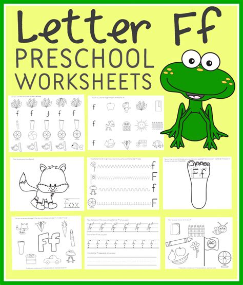 printable art worksheets for preschoolers free letter f preschool worksheets instant download