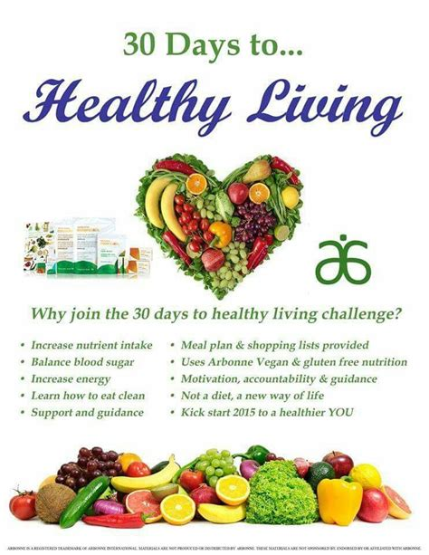 30 Days To Healthy Living Detox by Our Arbonne Healthy Living Program Arbonne
