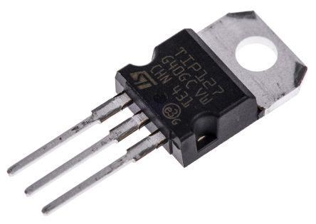 darlington transistor hfe tip127 transistor darlington tip127 pnp 5 a 100 v hfe 1 to 220 3 pines stmicroelectronics
