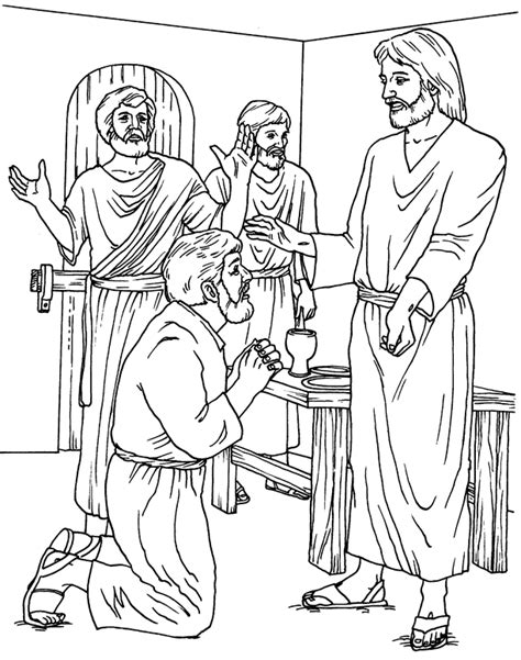 free coloring pages of jesus and disciples