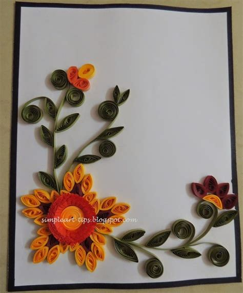 free quilling patterns handmade craft ideas card invitation design ideas simple art craft simple