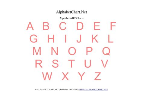 printable alphabet chart free printable alphabet charts in 7 colors alphabet