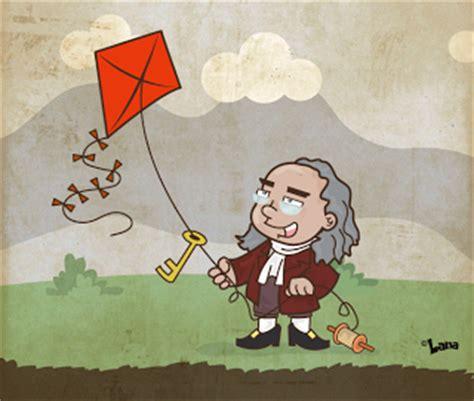 Benjamin Franklin Biography Cartoon   michelle lana illustration blog if pioneer benjamin