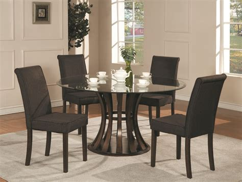 Black Glass Top Dining Table Contemporary Black Glass Top Dining Table