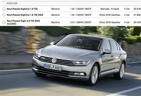 2015 Volkswagen Passat B8 1 8 Tsi And 2 0 Tsi Engines