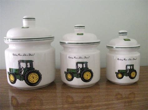 john deere kitchen canisters could put decals on my white canisters the new kitchen