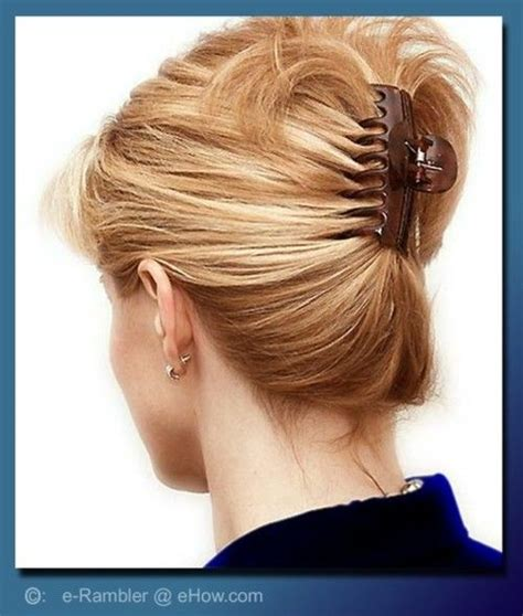 Claw Hairclip Hairstyles | butterfly clip hairstyle for medium hair clips and