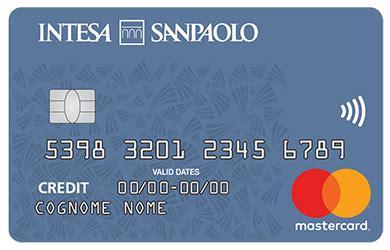 intesa carte di credito carta di credito pagamenti sicuri