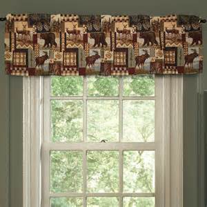 Moose Valances Moose Mountain Window Treatments Cabin Place
