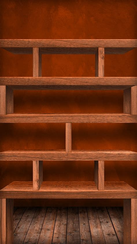 Shelf Wallpaper For by Wooden Grid Shelves Iphone 5 Wallpapers Top Iphone 5
