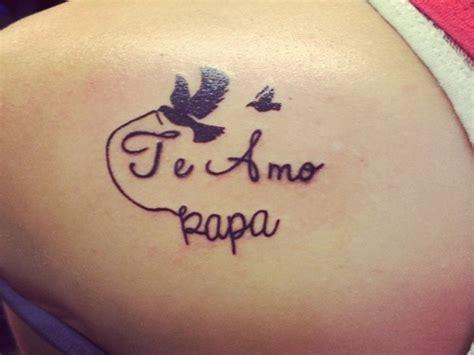 tattoo i love you daddy i love you dad with dove tattoo idea