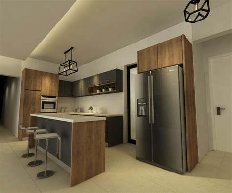 dry kitchen design andana condominium puchong 3d renof gallery