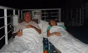 makeshift bed costa allegra fire passenger video and photos reveal