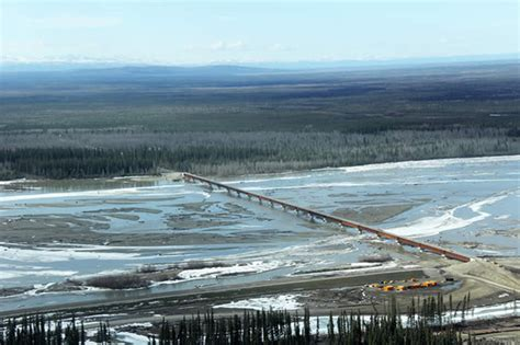 Kids Desk Area Tanana River Bridge Nearly Done But State Officials Can T