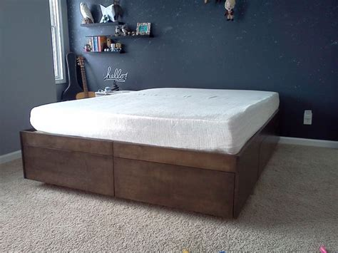 diy bed frame with drawers 15 diy platform beds that are easy to build home and