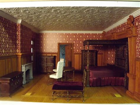 dollhouse bedroom late victorian english manor dollhouse 1 12 miniature