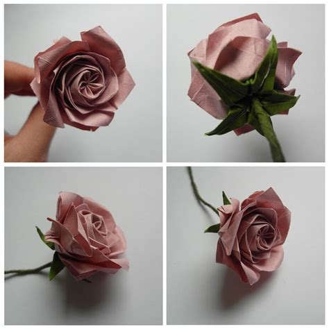 Folded Paper Roses - 78 ideas about origami on origami